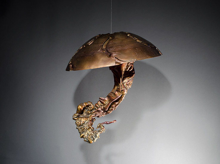 "Jellyfish VI, 2013, 11x14x11"", bronze, unique"